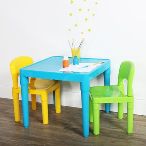 Kids Plastic Table and 2 Chairs Set Perfect Gift for Girls or Boys for Sale in Henderson, NV
