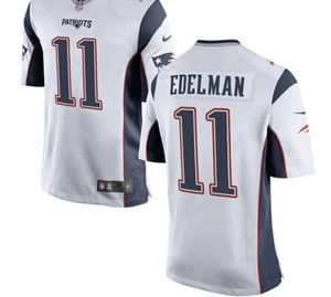 New England Patriots #11 Edelman Jersey 100 yr patch for Sale in Manchester, CT