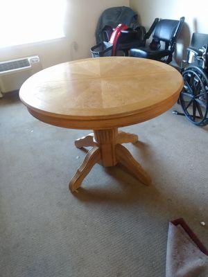 Solid oak kitchen table for Sale in Denver, CO