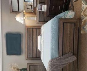 Bedroom Set Crown Mark Grayish Brown for Sale in Houston, TX