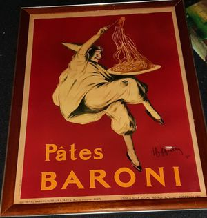 Pates Baroni Vintage Poster for Sale in Damascus, MD