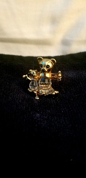 Swarovski crystal and gold bear and baby bear collectible for Sale in New Caney, TX