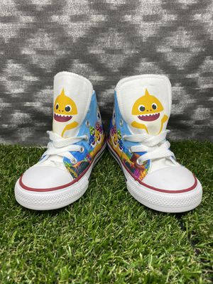 Custom Yellow Baby Shark Converse Shoes for Sale in Lake View Terrace, CA