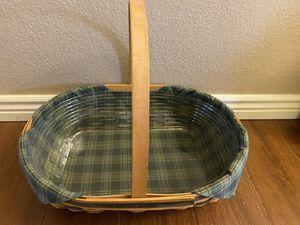 Longaberger Basket with Liner for Sale in Phoenix, AZ