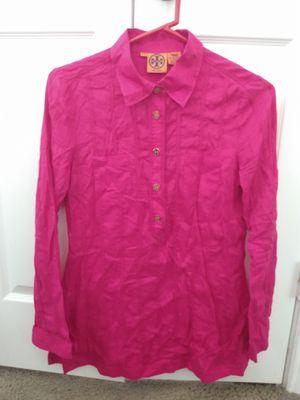 Tory Burch hot pink tunic shirt for Sale in Murphy, TX