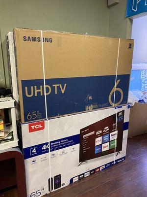 65 INCH SAMSUNG SMART 4K BRAND NEW HUGE SALE 1 YEAR WARRANTY for Sale in Burbank, CA