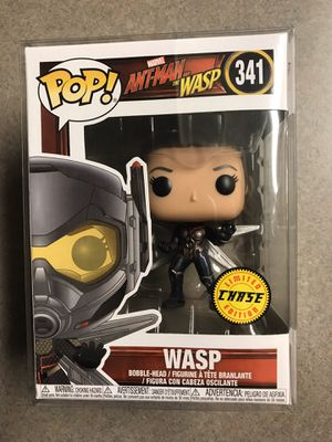 Wasp CHASE variant Funko Pop Ant-Man Marvel 341 with protector for Sale in Addison, TX