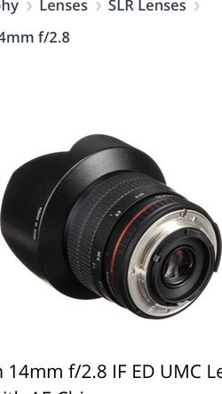 Rokinon 14mm f/2.8 IF ED UMC for Sale in Nampa,  ID