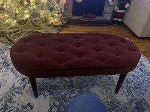 Red velvet ottoman for Sale in Hanover, NJ