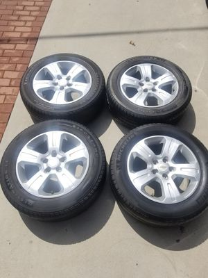 CHEVY RIMS AND TIRES -SET OF 4 - (235/60/R17) for Sale in West Puente Valley, CA