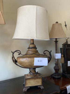 Bronze Scroll Lamp for Sale in Nolensville, TN