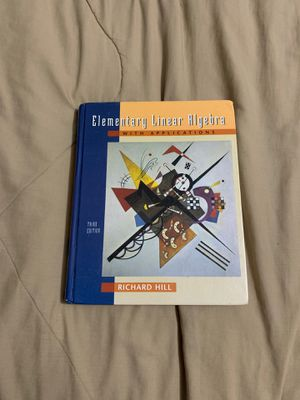 Elementary Linear Algebra Textbook for Sale in Bridge City, TX