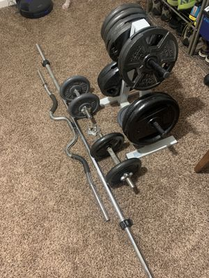 1 inch standard weight set for Sale in Tempe, AZ