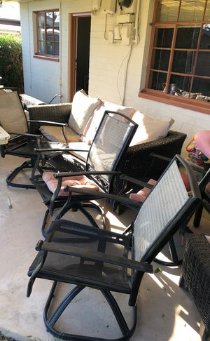 Outdoor furniture chairs couch ect for Sale in Tempe, AZ
