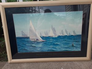 Large painting sail boat race for Sale in St. Louis, MO