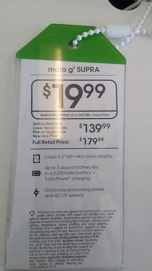 MOTO G7 Supra for Sale in Salesville, AR