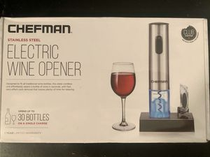 Chefman Electric Wine Opener for Sale in Tampa, FL
