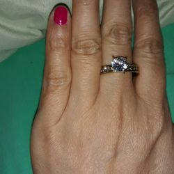 18 K Gold Plated Engagement Ring, Size 11. for Sale in Dallas,  TX