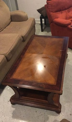 Wooden Coffee Table with bottom shelf for Sale in Atlanta, GA