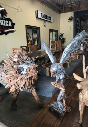 Wood & Metal Eagle Statue for Sale in Vancouver, WA