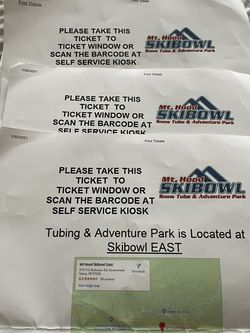 Mt.Hood SkiBowl Tickets (skibowl East) for Sale in Hillsboro,  OR