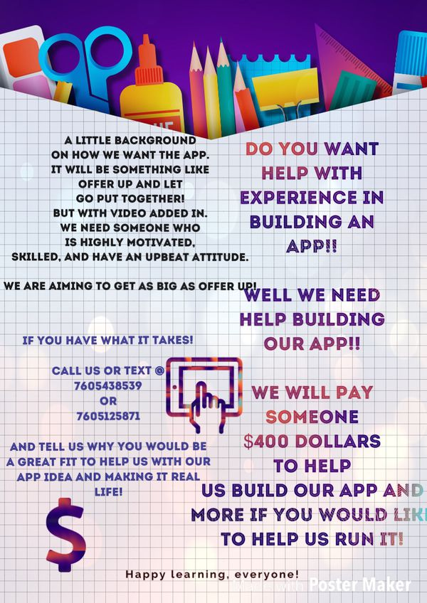 Help Us Build Our App!!