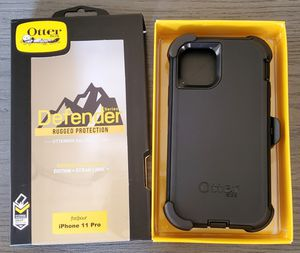 iPhone 11 Pro Otterbox Defender Series Case with belt clip holster for Sale in Santa Clarita, CA