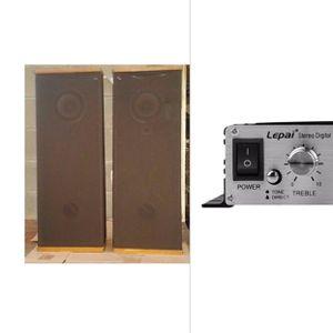 Vintage Speaker DCM Time Frame TF 250 & Lepai Audio Amplifier for Sale in Los Angeles, CA