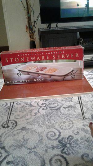 Stone Ware Server with Metal Rack for Sale in Ewa Beach, HI