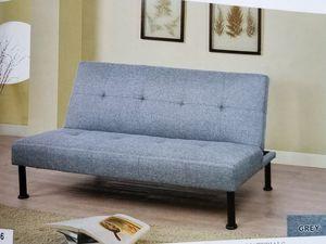grey futon sofa bed ( new ) for Sale in Hayward, CA