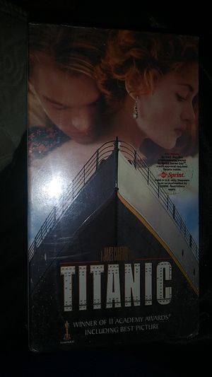 Titanic movie original in box vhs 2 cassets still in wrap for Sale in Los Angeles, CA