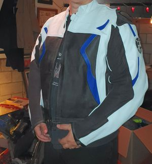 Mens Leather BMW Motorcycle Jacket - Thick Leather - XXL for Sale in Woodland Hills, CA