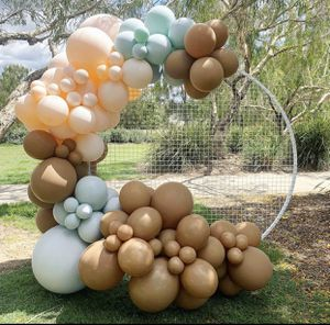 Balloon garland /rah screen / grid circle / backdrop / wedding / baby shower / globos for Sale in Colton, CA