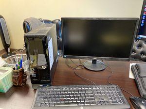 HP desktop. AOC monitor. Keyboard. Mouse. for Sale in West Bloomfield Township, MI