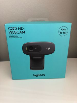 Logitech C270 Webcam - HD 720p Video, 3.0MP Photo Black Meetup or shipped for Sale in Indianapolis, IN
