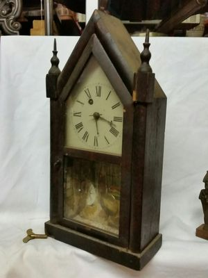 Small antique Cathedral clock as is for Sale in Stewartsville, NJ