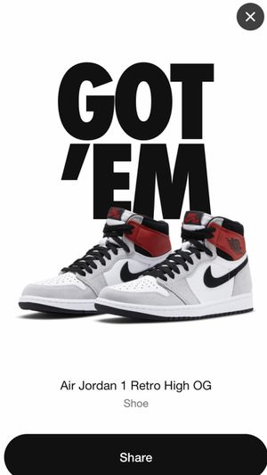 Jordan 1 Smoke Grey Size 9.5 for Sale in Naugatuck, CT