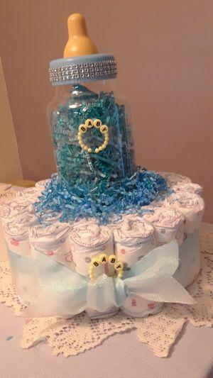 Baby bottle diaper cake for Sale in Sunrise, FL