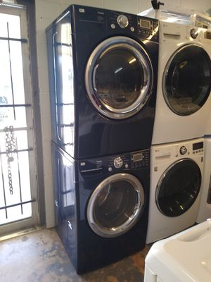 😎LG front loads steam washer and dryer electric good conditions✔ $700 for the set for Sale in Houston, TX