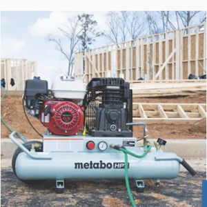 Metabo HPT (was Hitachi Power Tools) 8-Gallon Single Stage Portable Corded Gas Horizontal Air Compressor for Sale in Lemont, IL