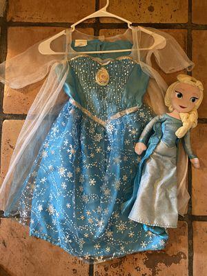 Frozen dress - princess Elsa dress - girls costume - girls dress up - Elsa doll - Disney princess - 4/6x for Sale in Chandler, AZ