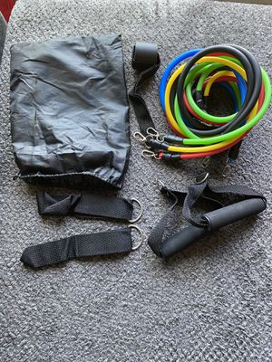11Pcs resistance exercise bands for sale for Sale in Severn, MD