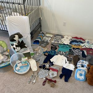 Baby/infant Bundle!!! 103 Items-clothing, Shoes, Bottle Serilizer,baby Bath, Swaddle And Much More!!!!!!! for Sale in Riverside, CA