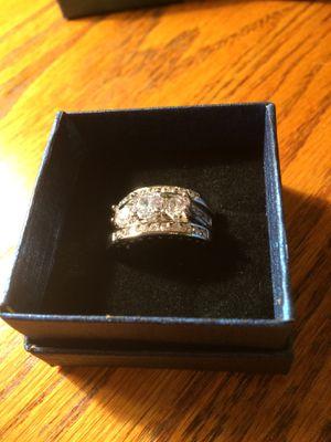 3 piece wedding ring set silver size 9 for Sale in Birmingham, AL