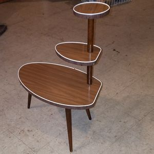 3 tier mcm atomic age wood plant stand for Sale in Lacey, WA