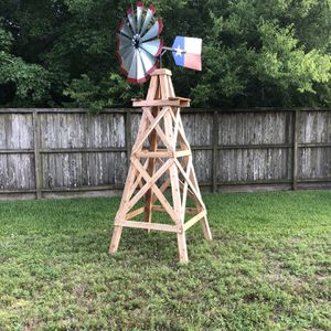 Custom Made Cedar Wood Windmill Quality Craftsmanship 11ft for Sale in Spring, TX