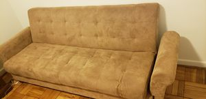Like New Brown Futon Couch with Storage for Sale in Arlington, VA