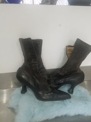 Vintage Edwardian leather boots 1900s for Sale in Chicago, IL