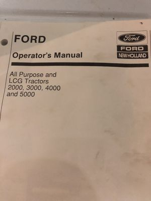 Manual for ford tractors for Sale in Bay City, MI