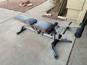 Adjustable Workout Bench w/ Leg Curl / Extensions Attachments for Sale in Phoenix, AZ